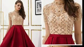 Latest Evening Prom Dress!! Dusty Pink, Chiffon Prom Dress !! Lace Applique Prom Dress