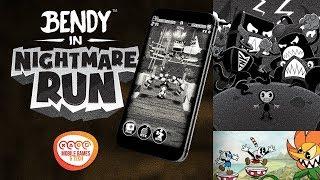 Bendy in Nightmare Run (Cuphead Cartoon Style) Mobile Gameplay in 4K