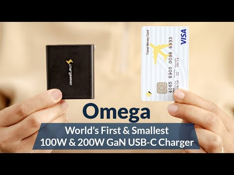 Omega: World's Smallest 100W & 200W USB-C Charger-GadgetAny