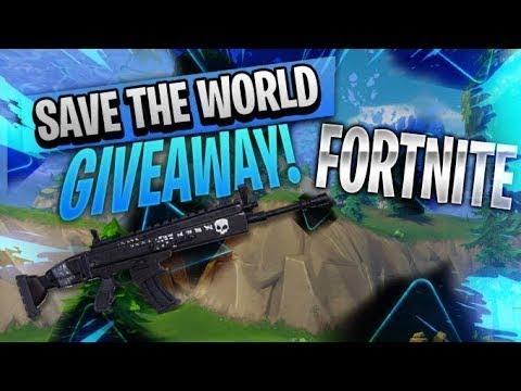 Live Fortnite save the world massive Giveaway+modded guns and rejoins