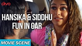 Hansika and Sidhu Fun In The Car - Uyire Uyire