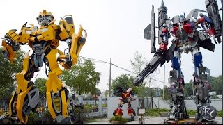 Real Life Transformers Autobots Built With Car Parts! Bumblebee, Optimus Prime