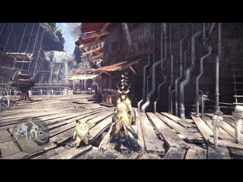 MHW《魔物獵人世界》- 介紹全套活動裝備 : 爛輝龍鎧羅和爛輝龍貓