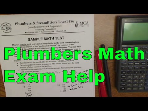 How to Succeed on the Plumbers Math Test, with link to practice ...