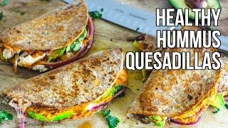 Healthy Hummus Quesadillas / Quesadillas con Humus de Pimientos Asados