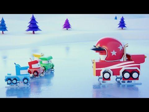 最好看的儿童汽车卡通片 - 滑冰 - 卡车闯天下 Truck Games