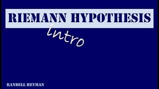 Intro Riemann hypothesis