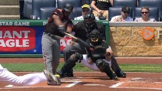 ARI@PIT: Bourn hits a double to plate Segura