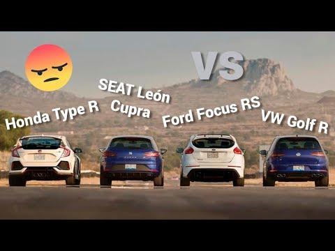 Golf R VS León CUPRA VS Focus RS VS Type R