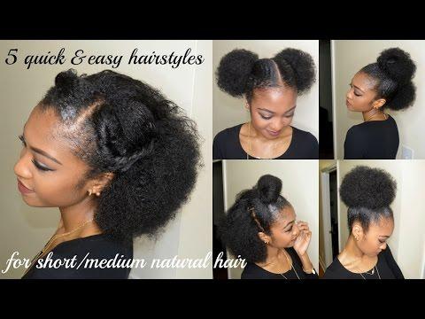 5 Quick Easy Hairstyles For Short Medium Natural Hair Disisreyrey