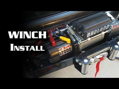 Installing HF Badland 12,000 lb Winch