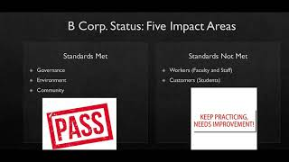 B Corp. Status ACE Assignment