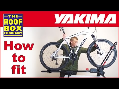 Yakima FrontLoader - Roof mounted bike carrier - How to fit to steel roof bars