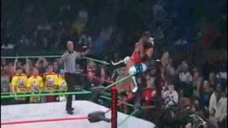 AJ Styles hits a avalanche Styles Clash on Christopher Daniels