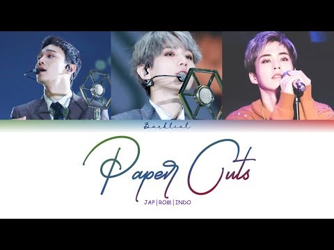 EXO CBX - Paper Cuts (JPN/ROM/INDO Color Coded Lyrics/가사)