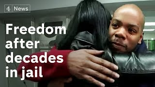 This is what freedom looks like after decades in jail