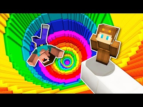 Noobs vs. infinite rainbow dropper map - minecraft on the disease map, the drifter map, the glass map,