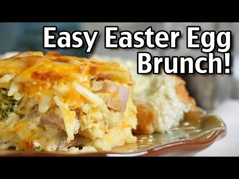 Super Easy Easter Egg Brunch Recipe! Brunch Casserole