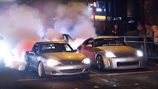 Modified Cars Leaving a Car Show at the Worst Junction Ever!
