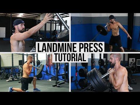 BEST Landmine Press Shoulder Exercise Variations