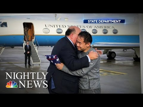 American Student Freed In Prisoner Swap After Spending 3 Years In Iranian Jail | NBC Nightly News