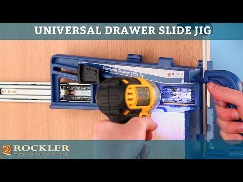 Guia Rockler Universal Drawer Slide Jig Instalar Riel
