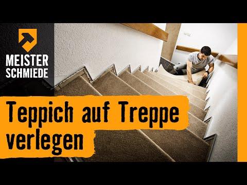 Teppich auf Treppe verlegen | HORNBACH Meisterschmiede