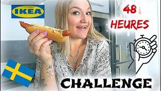 JE MANGE QUE DE LA NOURRITURE IKEA ⏱ 48H !