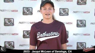 2023 Jacqui McLean Shortstop Softball Skills Video - Batbusters