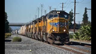 Union Pacific Trains in the City of Industry, CA