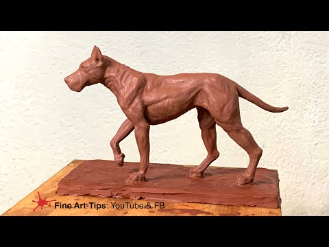 sculpture  how to sculpt a great dane dog
