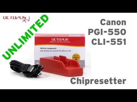 Chipresetter Canon PGI-550 CLI-551 Tintenpatronen UNLIMITED