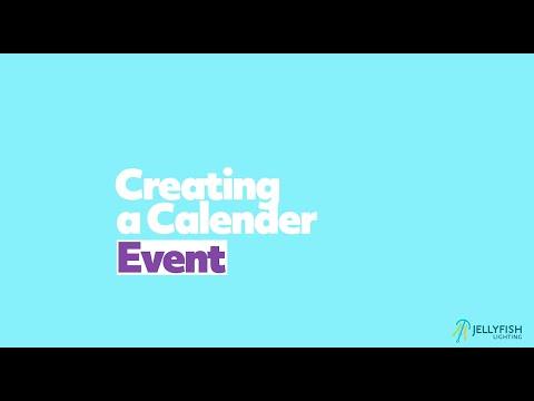 Creating a Calendar Event