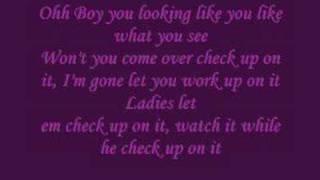 Beyonce feat. Slim Thugh - Check On it Lyrics