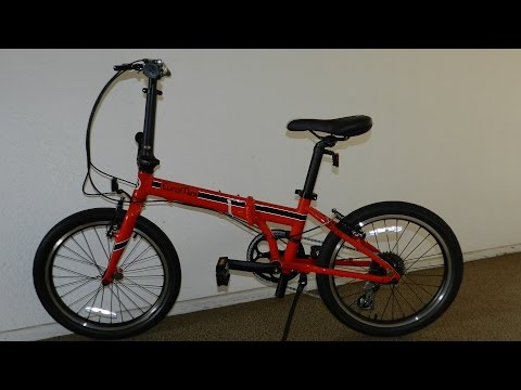 "EuroMini URBANO 20"" Folding Bike Unboxing Assembly and First Ride REVIEW"