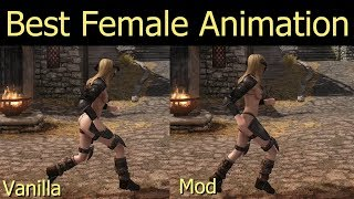 Best Female Animation for Skyrim - RAYSR Animation