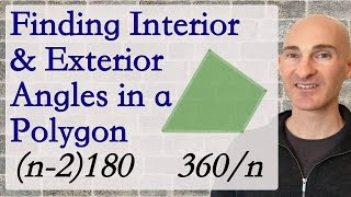 Finding Interior and Exterior Angles in a Polygon