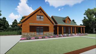 Architectural Designs Rustic Cabin Plan 64462SC Virtual Tour