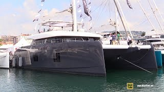 2019 Sunreef Yachts 80 Luxury Sail Catamaran - Walkaround - 2018 Cannes Yachting Festival