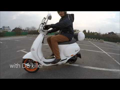 vespa et4 pm tuning sound w/wo db killer