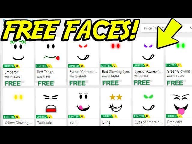 How To Get Free Face On Roblox