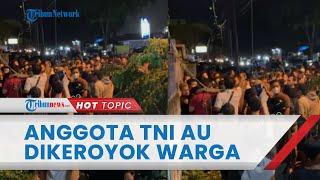 Detik-detik Anggota TNI AU Dikeroyok Warga di Medan, Berawal Cari Mobil yang Disewa 5 Orang
