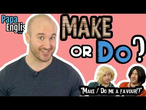 MAKE or DO? Learn English