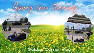 Spring Lawn Trimming