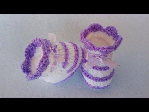 Scarpine Bebè Uncinetto 0 3 Mesi Tutorial Crochet Baby Shoes