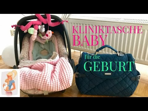 KLINIKTASCHE für unser BABY 🎀 GEBURT l CHECKLISTE l STOFFWINDELN?