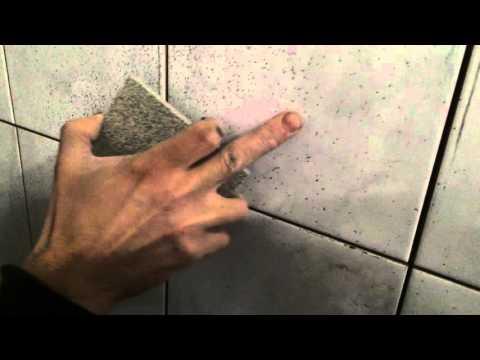 Как просто удалить следы искр от болгарки с плитки