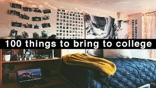 100 Things To Bring To College | What To Pack For College Dorm Life