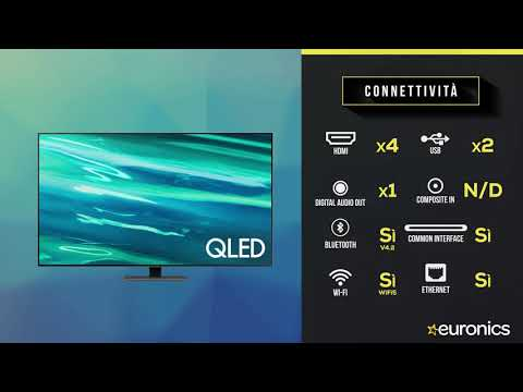 "SAMSUNGTV QLED 4K 50"" QE50Q80A Smart TV Wi-Fi  2021Carbon Silver"