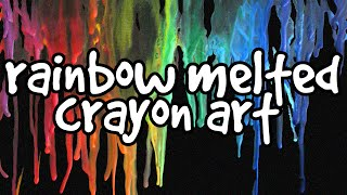 Rainbow Melted Crayon Art - Crafts For Teens/Wall Decorations